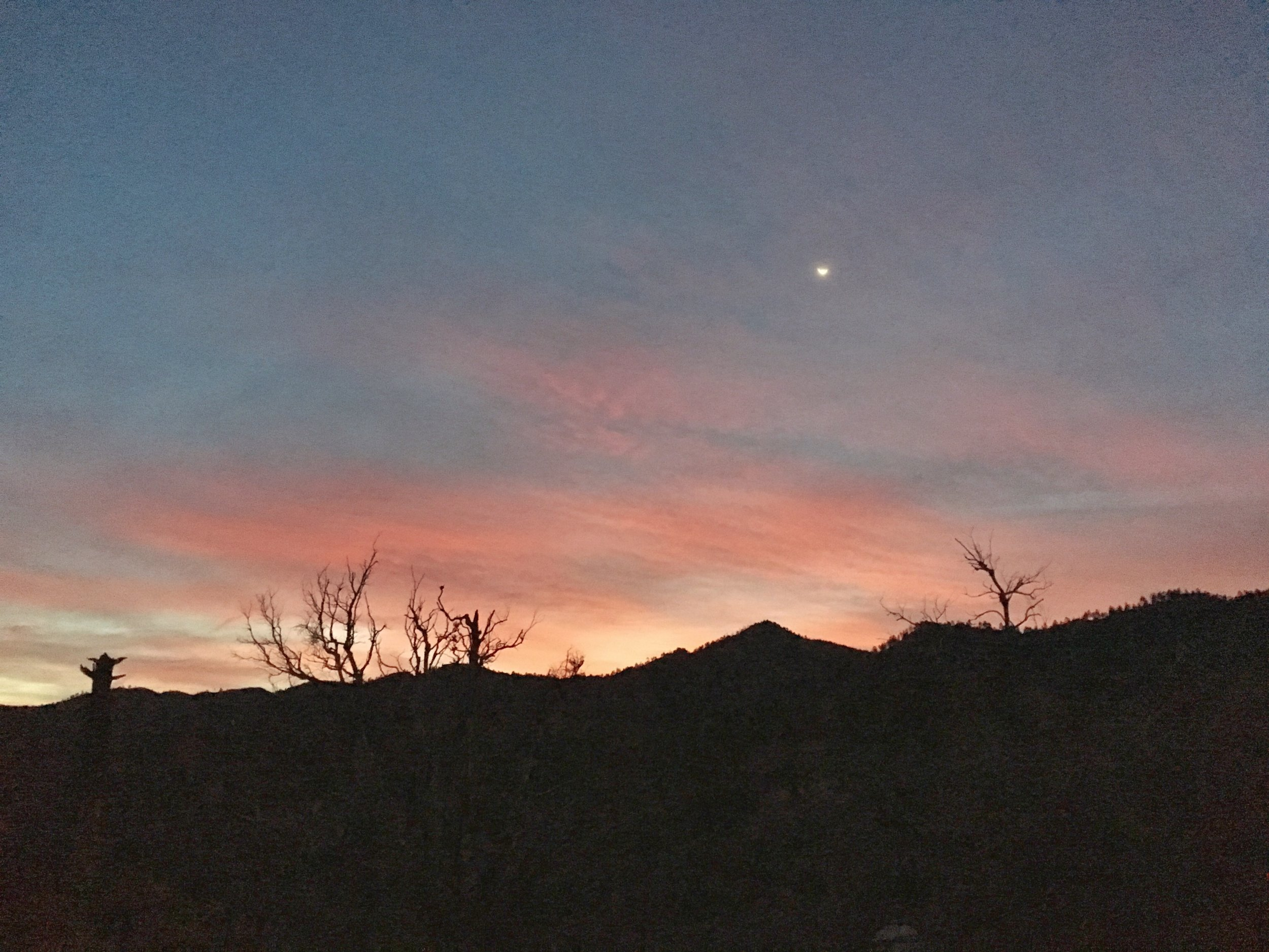 Dawn, time to hit the trail, miles to go.
