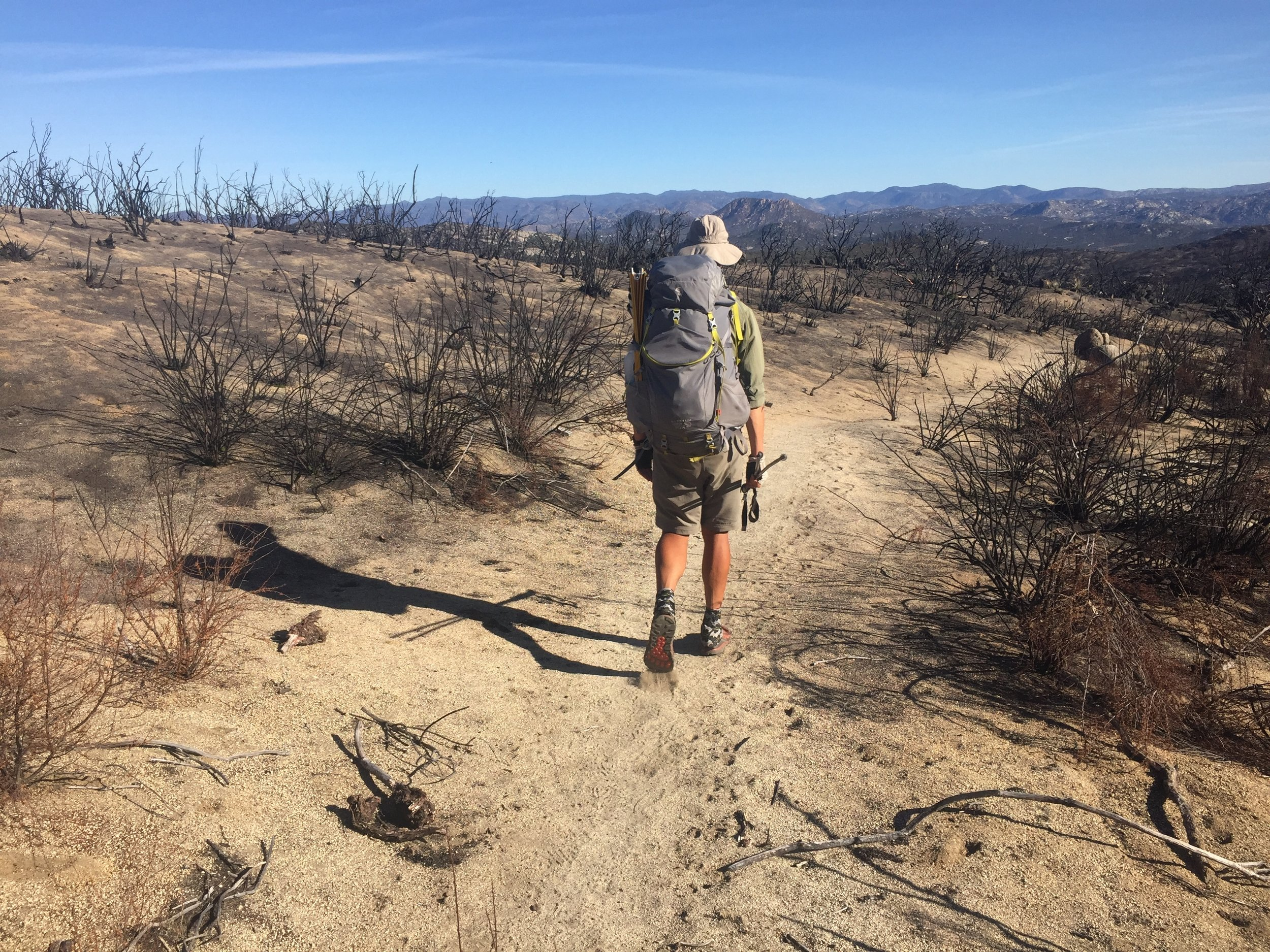 So many burn zones along the PCT in SoCal