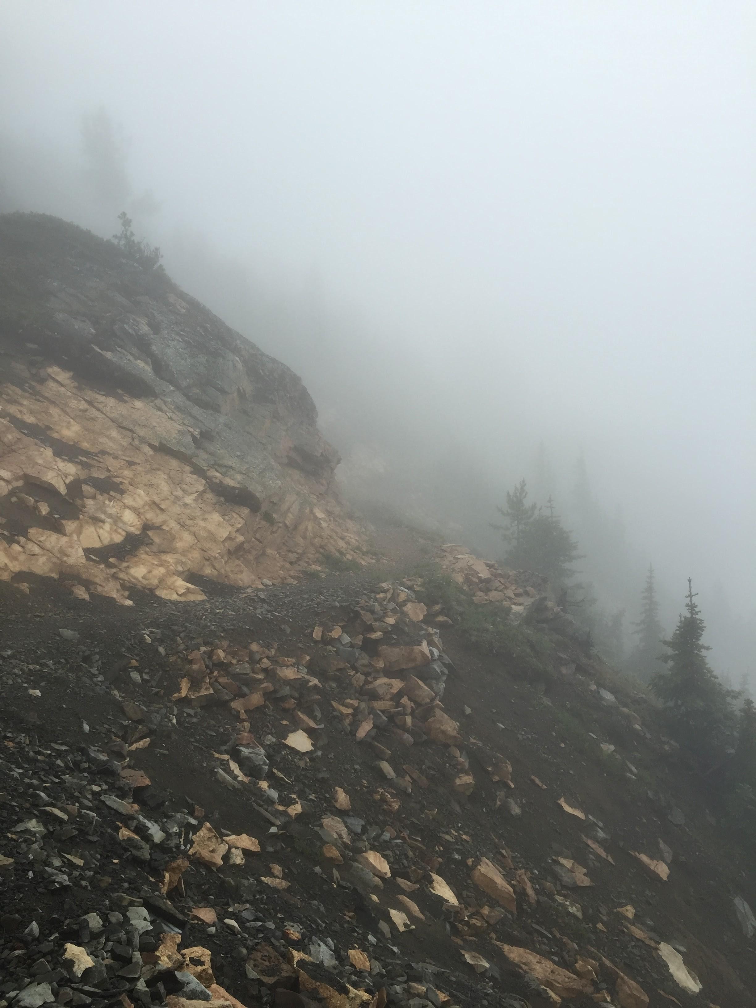 Thick mist on Tatie Peak