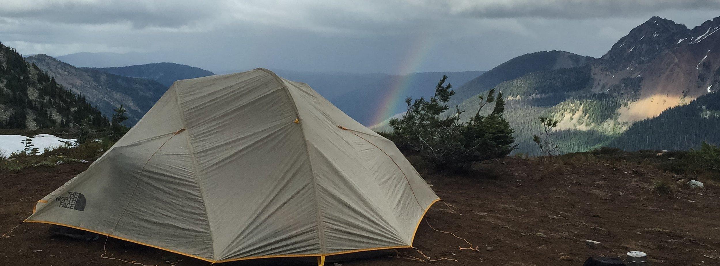 Rainbow on WA high point ridge