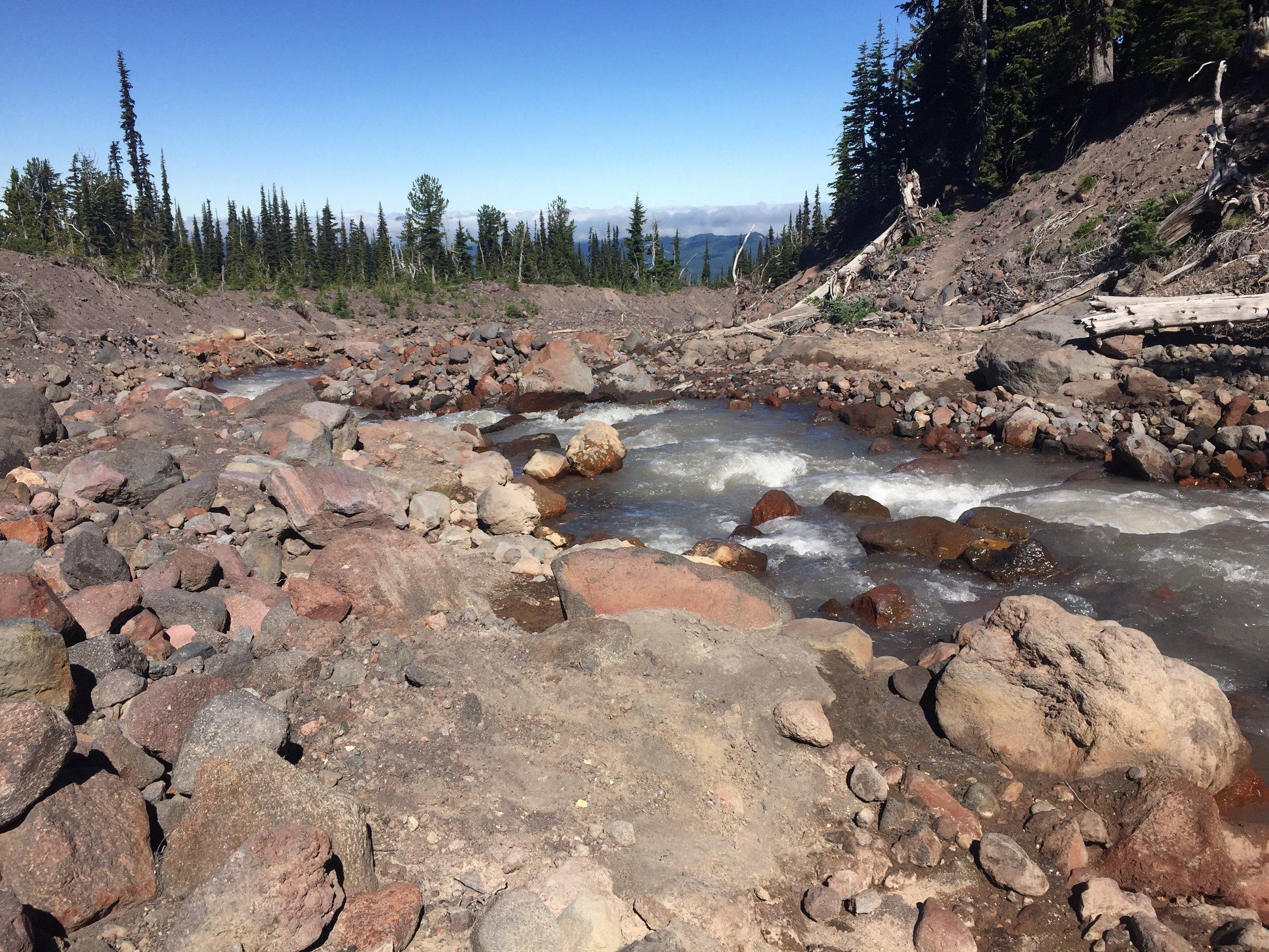 Silty volcanic creeks