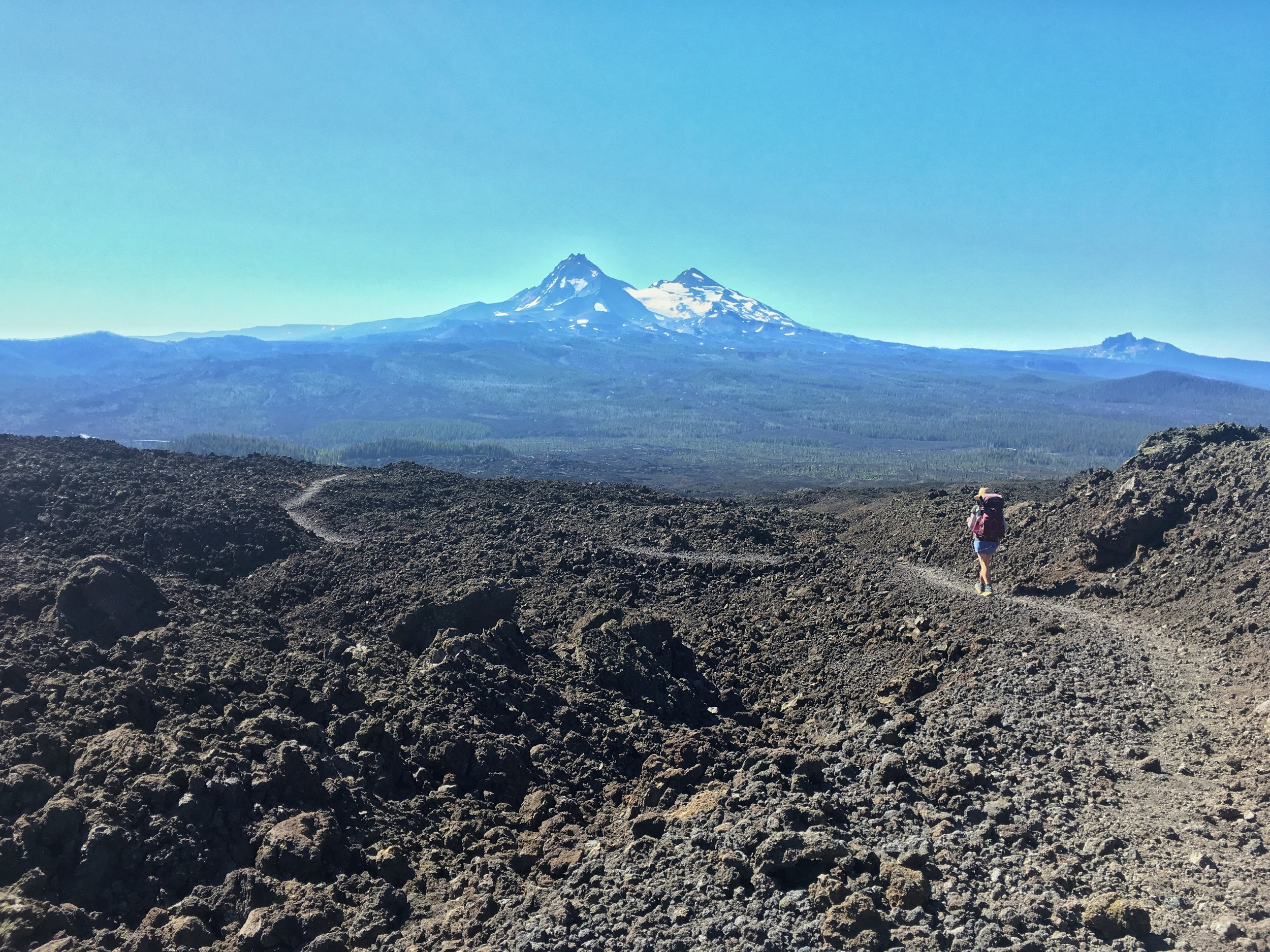 PCT Day 37- C lava fields and North Sisters.JPG