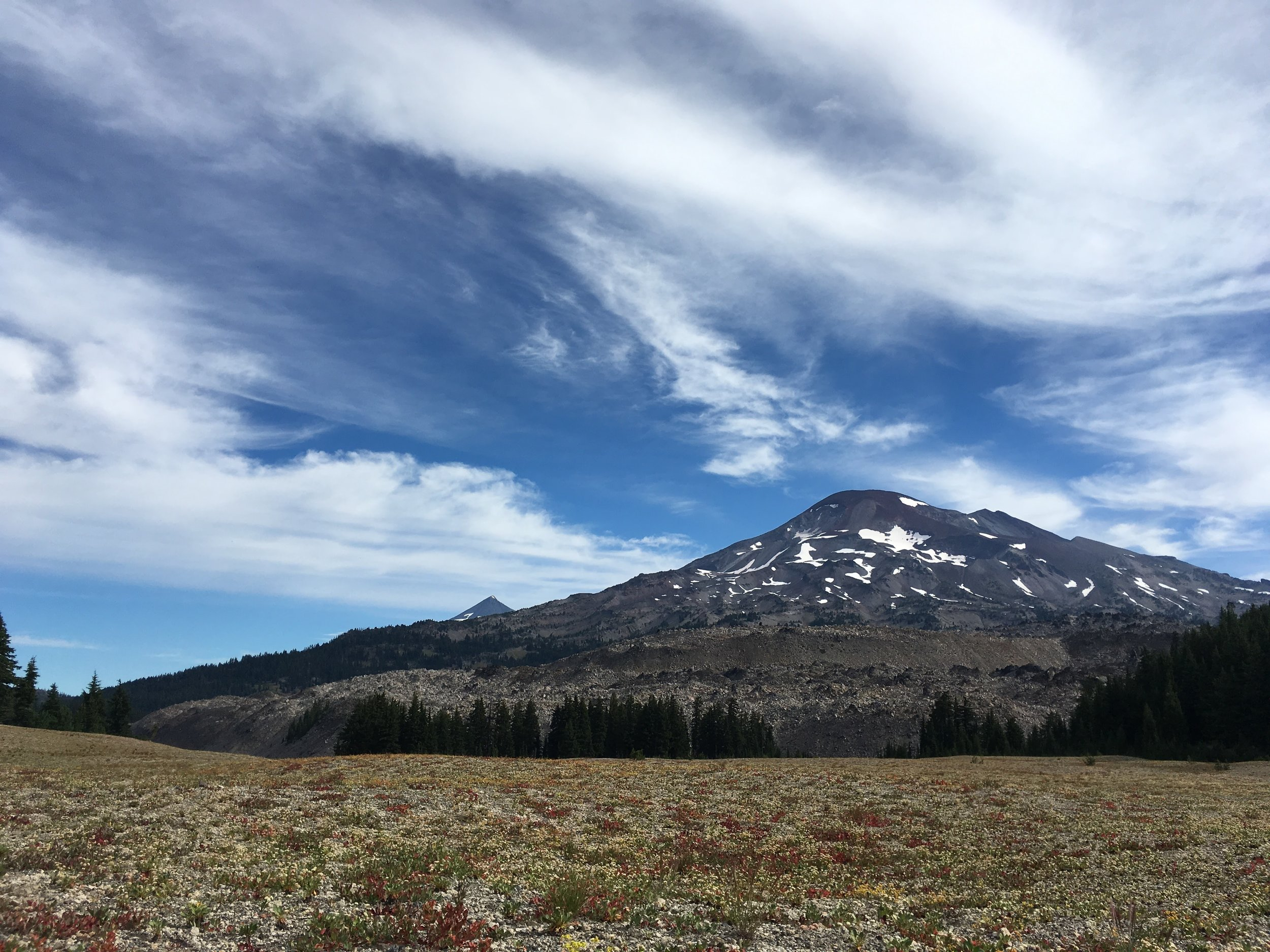 PCT Day 39- South Sister from the Plateau.JPG