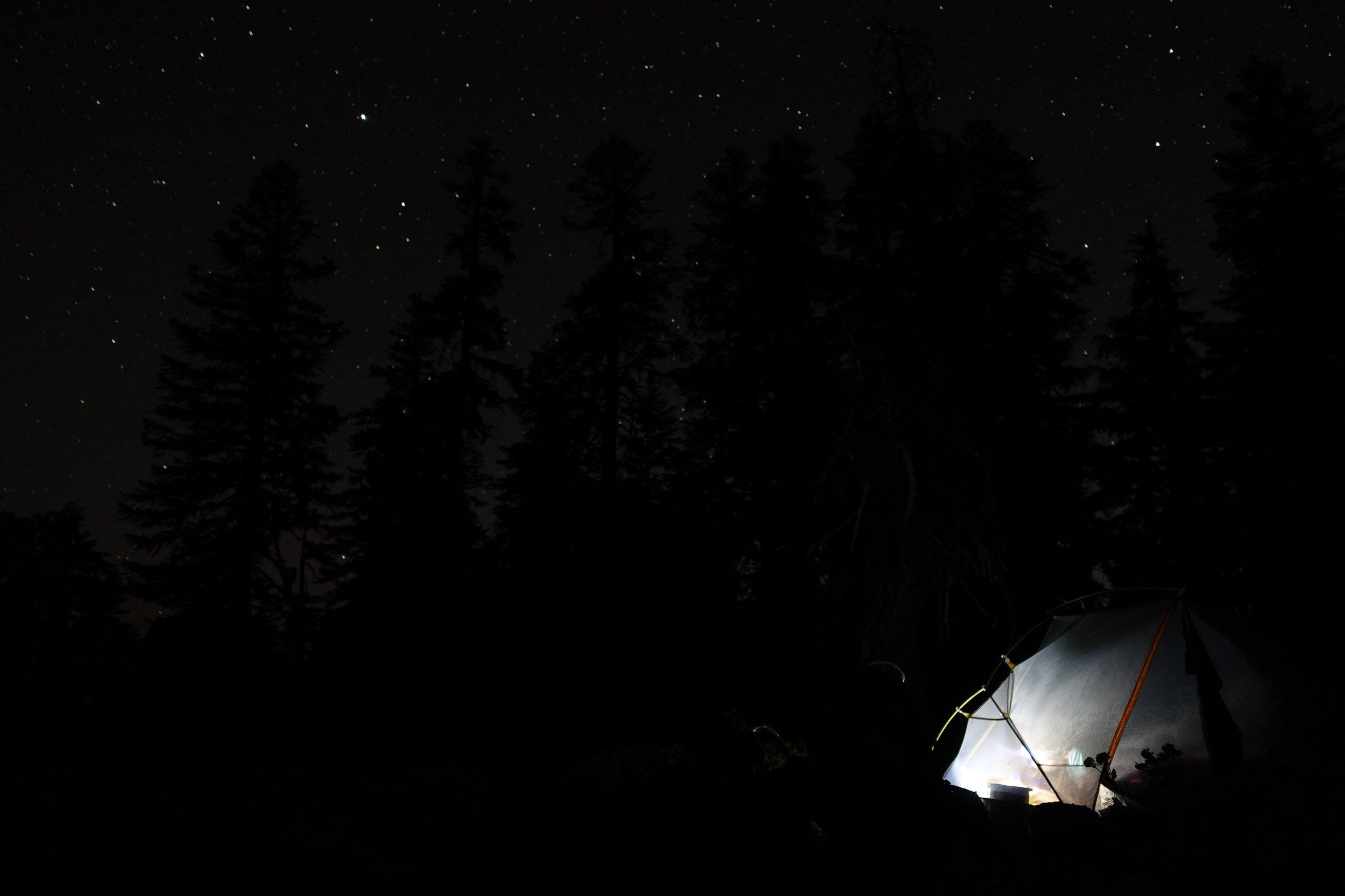 PCT Day 49- C journaling last night in Oregon.JPG