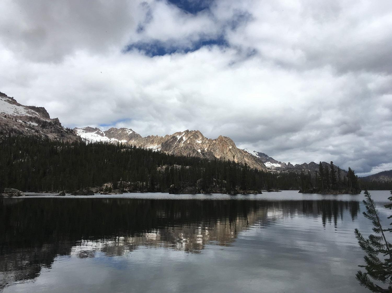 Imogene Lake, ever changing Idaho sky