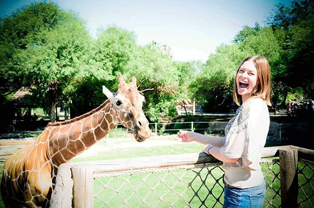 It's a good day when you can hang with giraffes. RIP Elinor. 🦒💙 #tbt❤️
