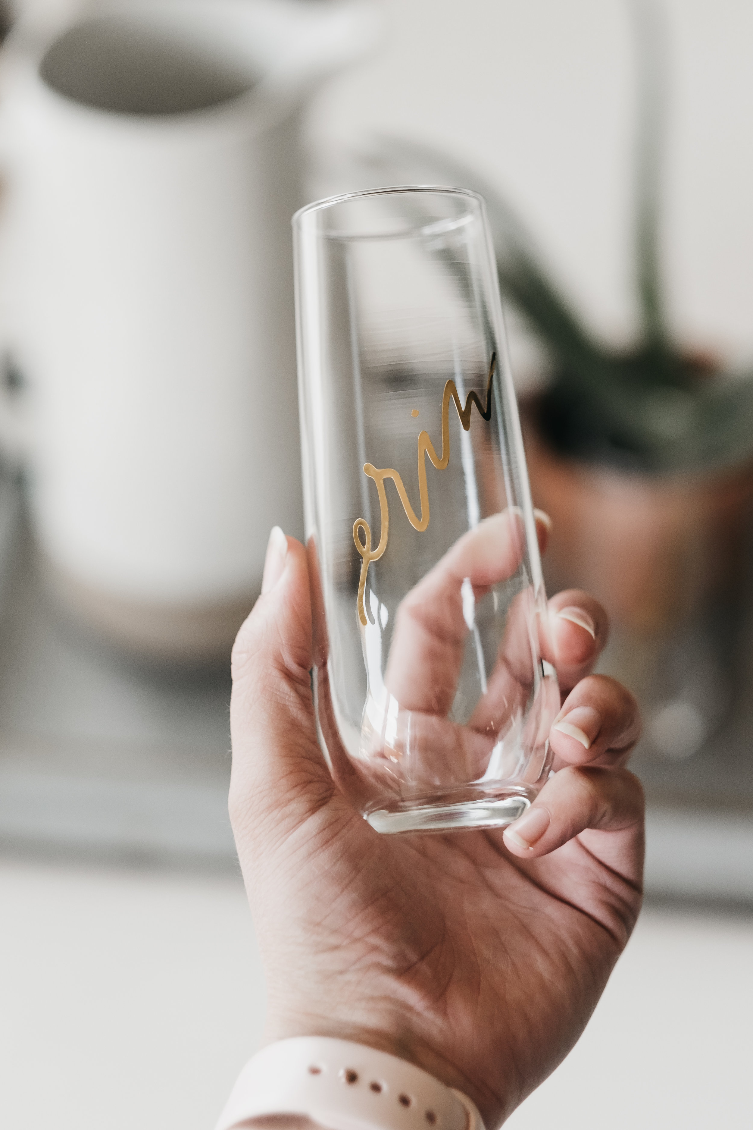 Gold Personalized Champagne Flutes