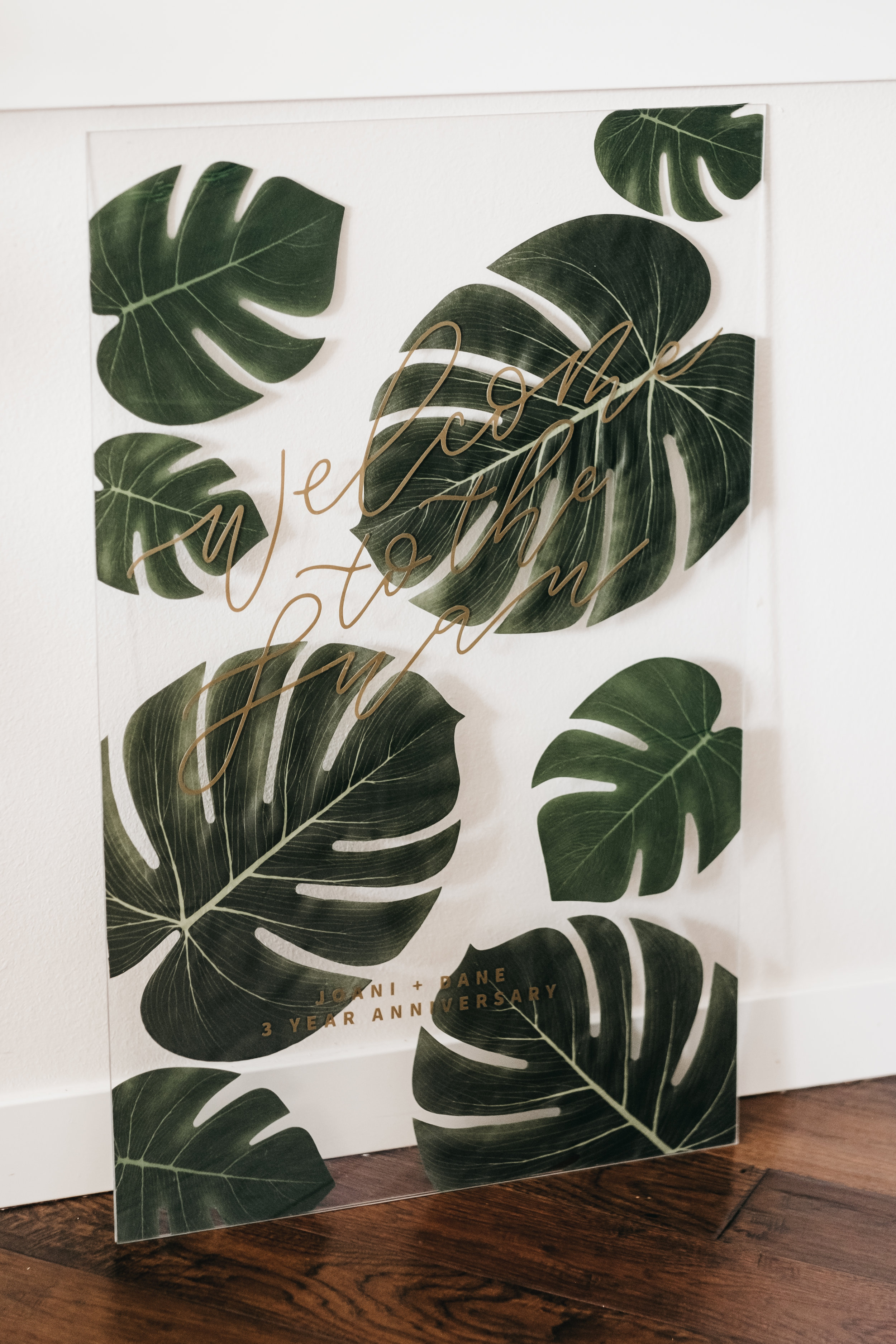 Tropical Themed Party Acrylic Signs