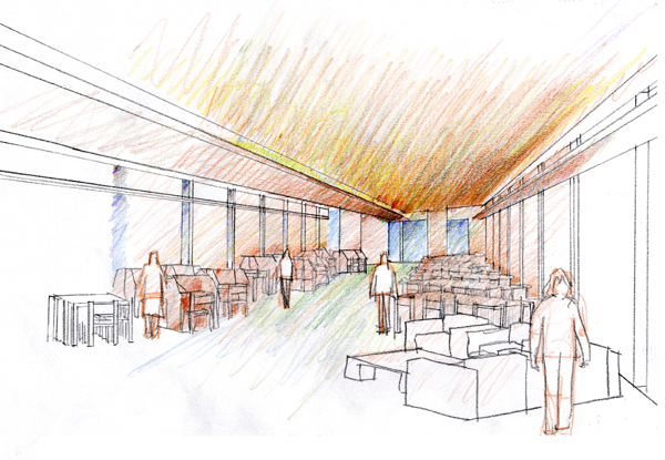 Perspective of the Reading Room