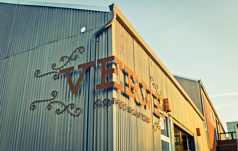 Verve Coffee Roasters Headquarters - Custom Corner Signage