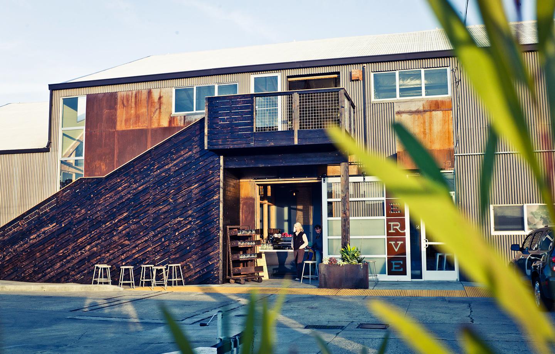 Verve Coffee Roasters Headquarters - Rustic Stairway Exterior