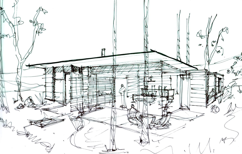 Fern Flat Residence Sketch Patio