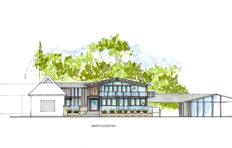 La Hacienda Commercial Los Gatos, CA - Exterior Sketch Detail