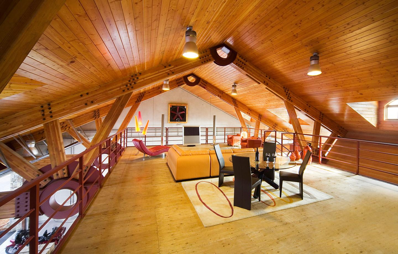 BRV Barn Interior Wine Tasting Loft Area