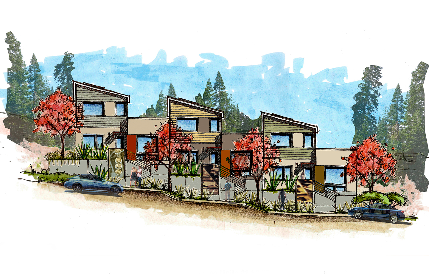 Habitat for Humanity Residence - Scotts Valley, CA - Rendering Stairs