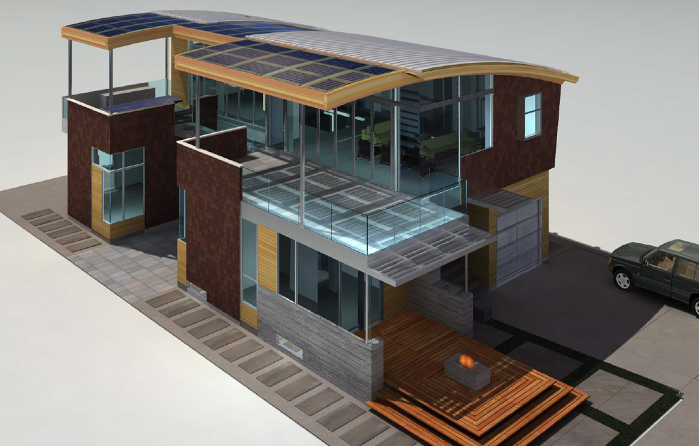 Pleasure Point Residence 3d Design Exterior Top View