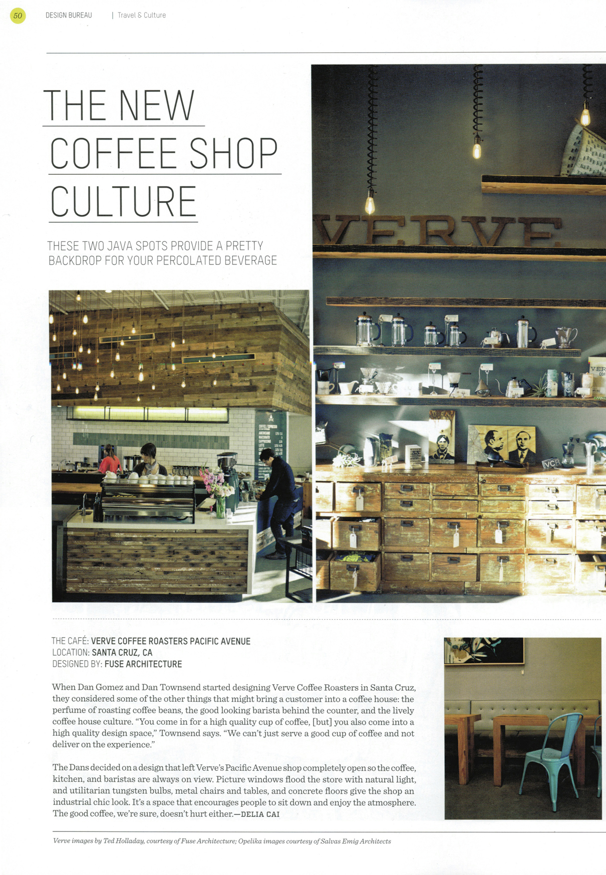 Fuse Architecture Press - Design Bureau Magazine, Verve Coffee Roasters Pacific Avenue