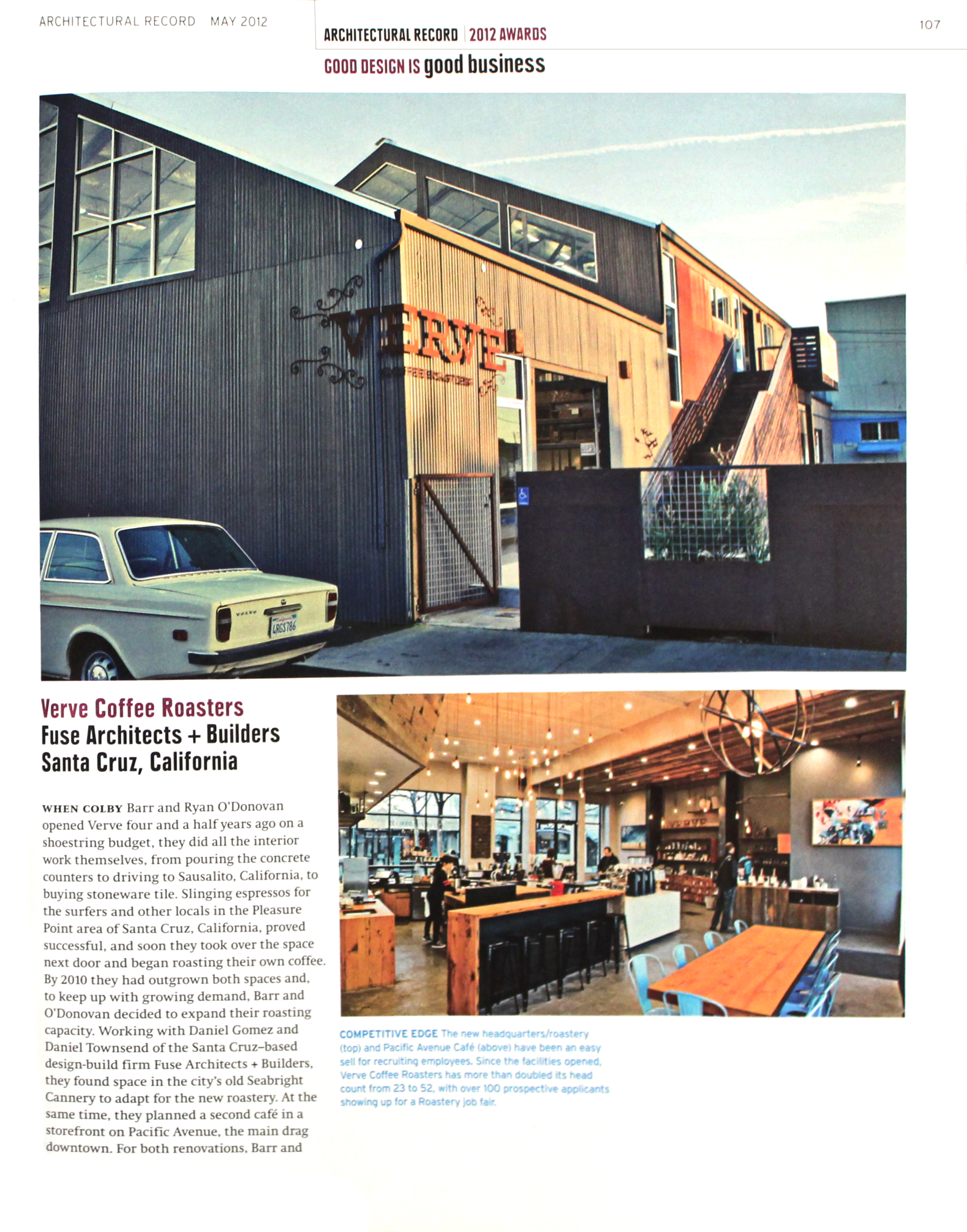 Verve Coffee Roasters Headquarters article - Architectural Record magazine