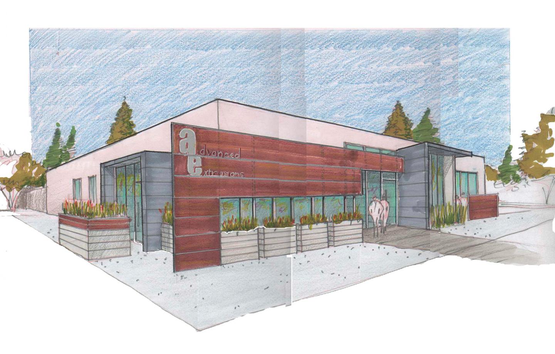 Advanced Extrusions Exterior Building Sketch