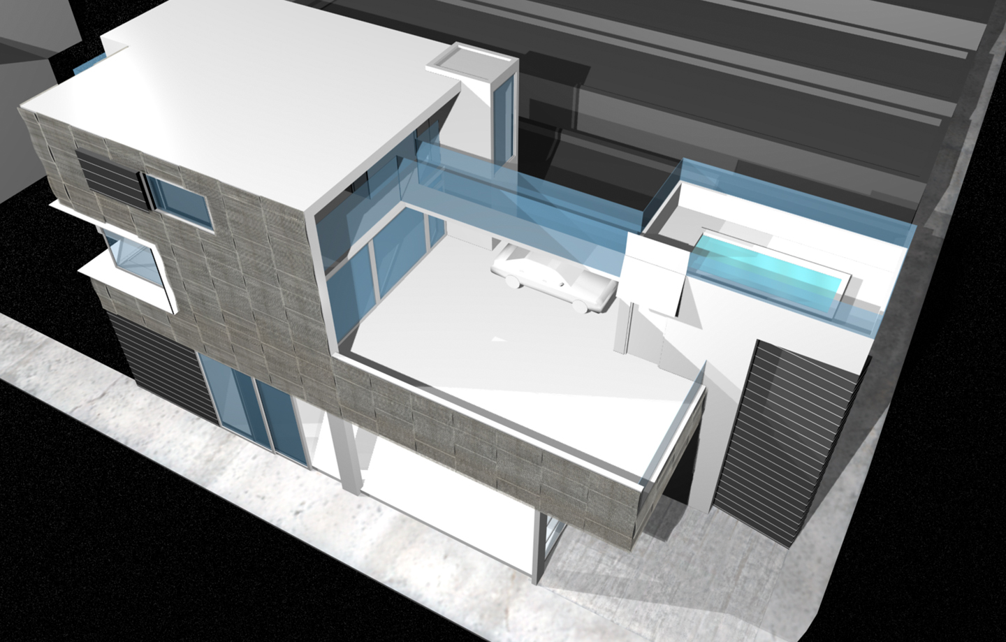 Sunset Beach Mixed Use 3d Design Exterior Top View