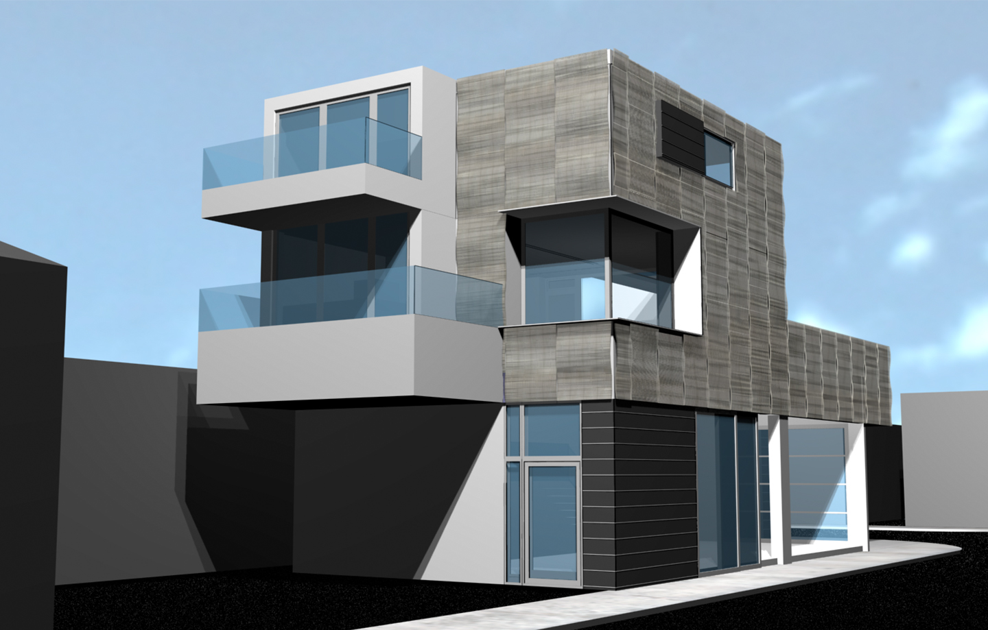 Sunset Beach Mixed Use 3d Design Exterior Balcony