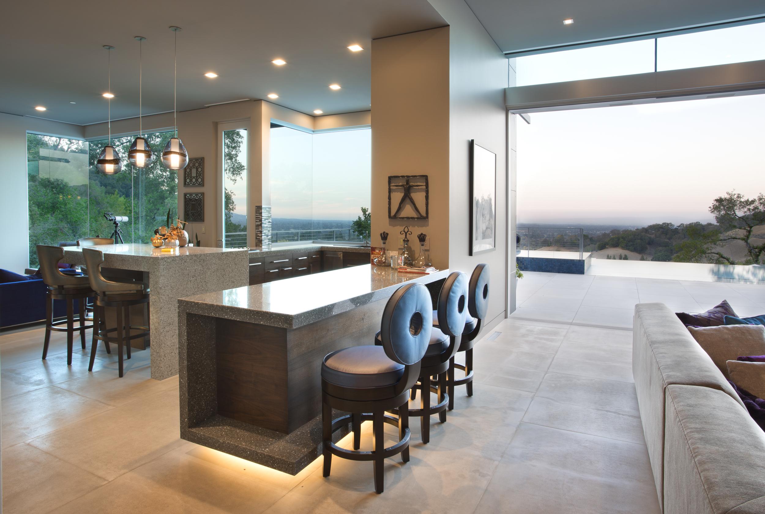 Teresita Residence Interior Design - Kitchen/Dining Room - Los Gatos, CA