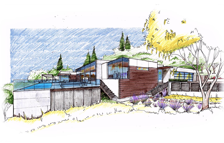 Teresita Residence Initial Sketch - Modern Architecture