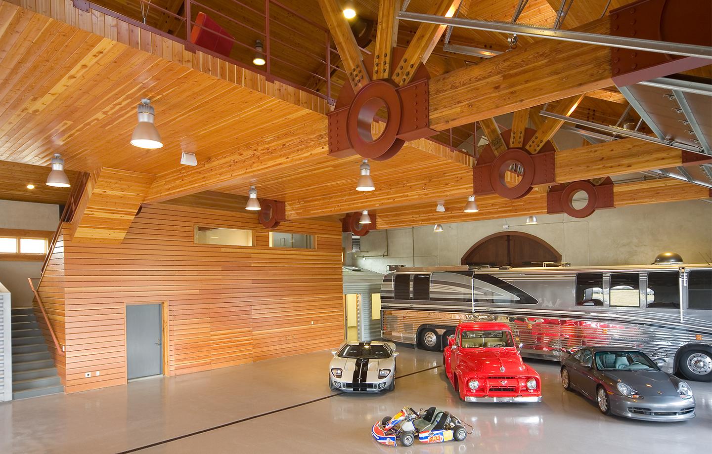 BRV Barn Car Showcase Room Interior - Los Gatos, CA