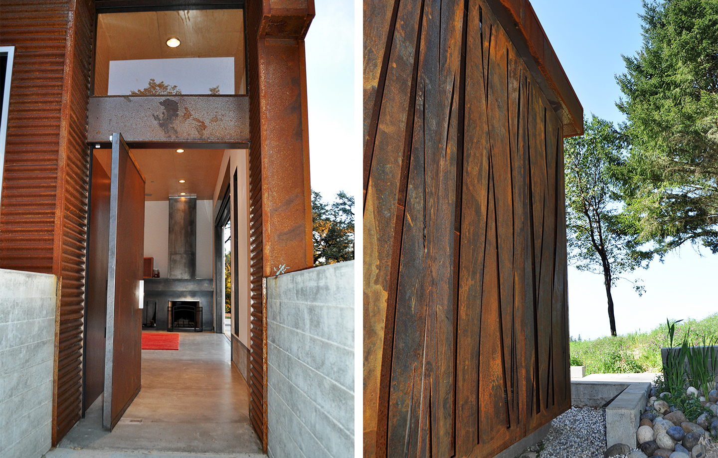Fern Flat Residence - Aptos, CA - Exterior Door and Wall Detail