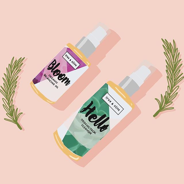 IN LOVE 💕💕with the way @trueandolive Hello facial cleanser smells. . . . #illustration #beautyillustration #cleanbeauty #greenbeauty #illustrationoftheday #beautyillustrator #grwm #skincare #skincareroutine