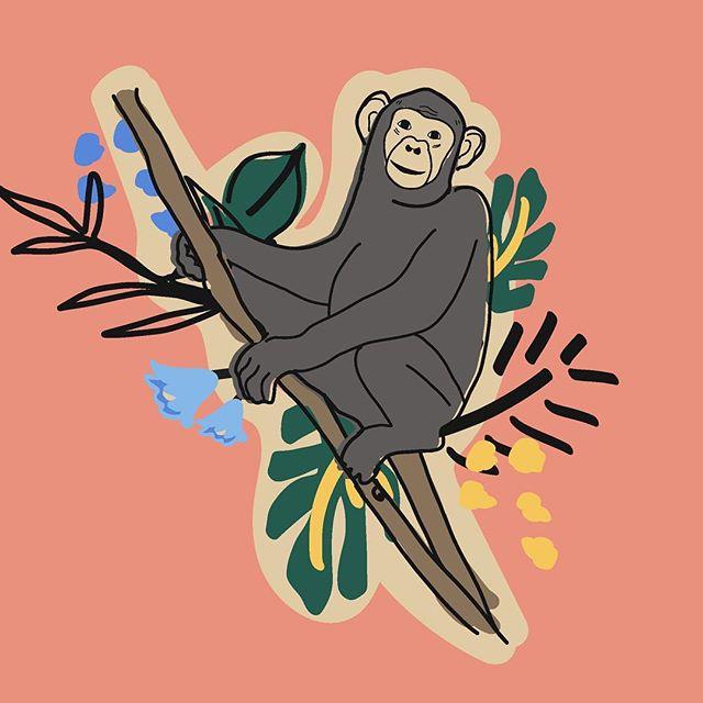 Just a little chimpanzee I drew for my @janegoodallinst X @schmidtsnaturals collab piece I designed a couple of months back. 🐵💕 . . . #illustration #packagedesign #graphicdesigner #womenwithpencils #digitalillustration #adobeillustrator