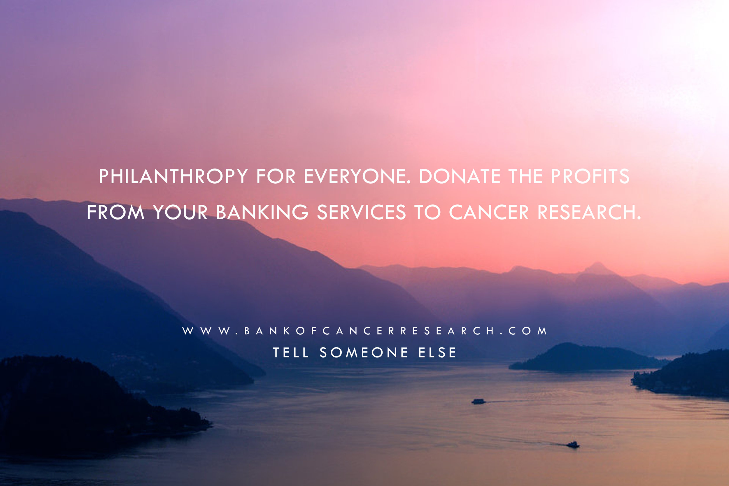 Bank of Cancer Research Philanthropy for Everyone