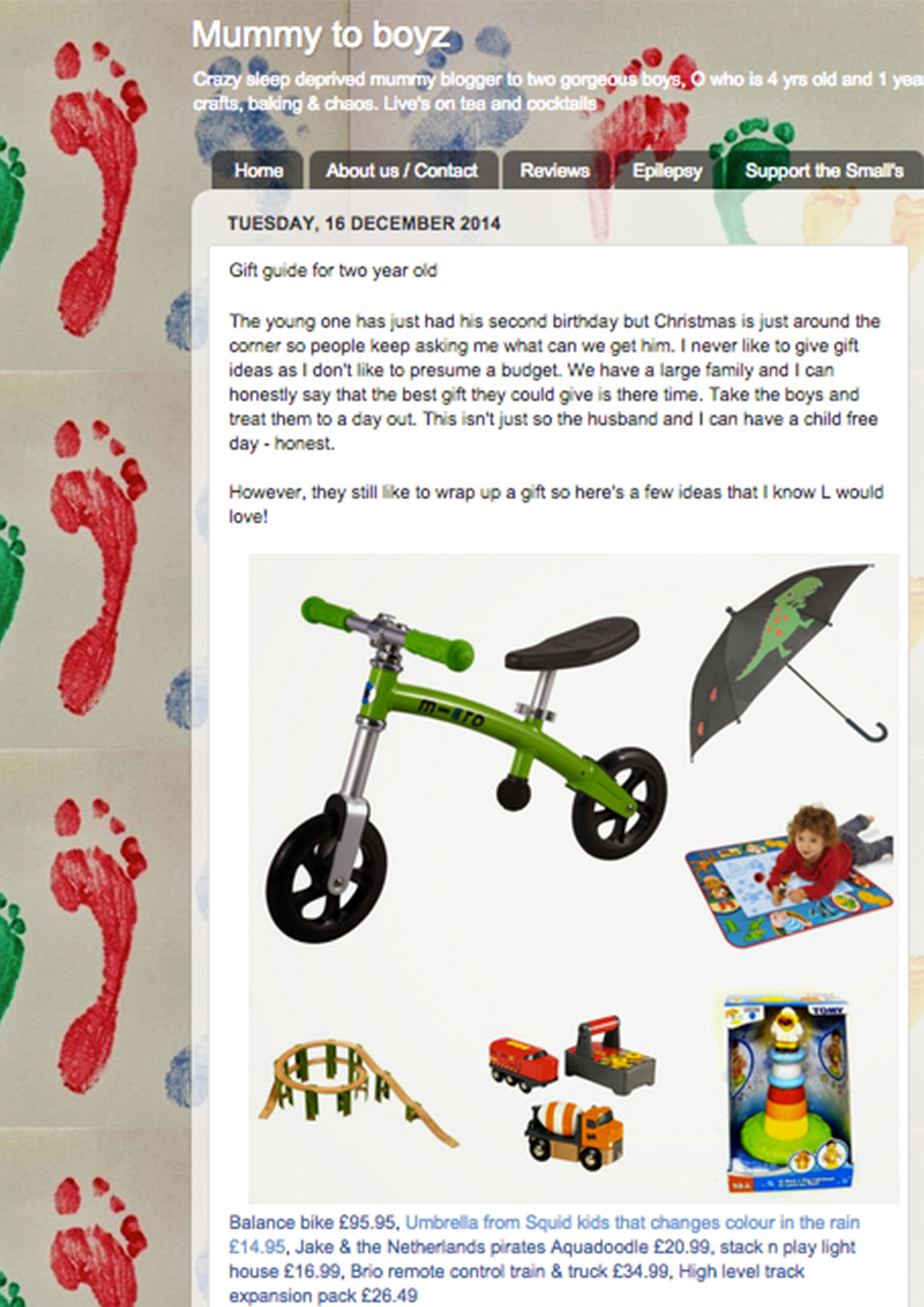 December 2014 Mummy to Boyzs