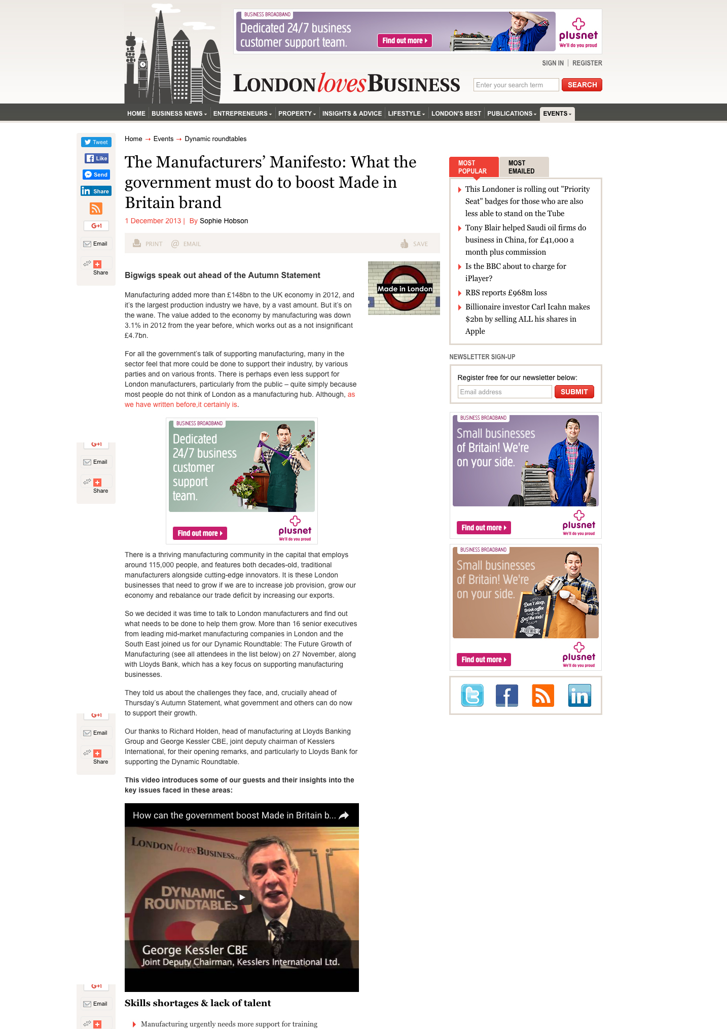 December 2013 London Loves Business
