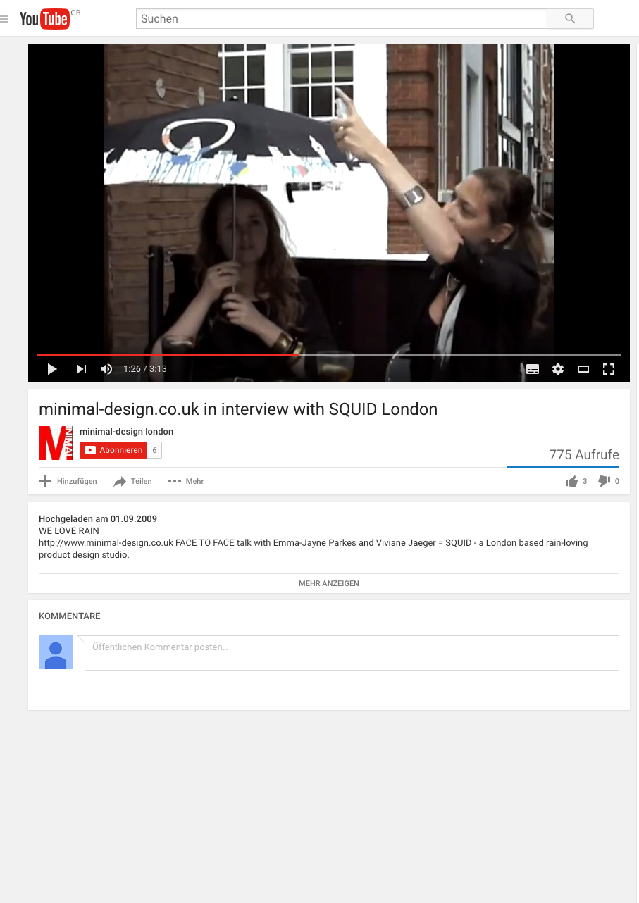 September 2009 Youtube Interview