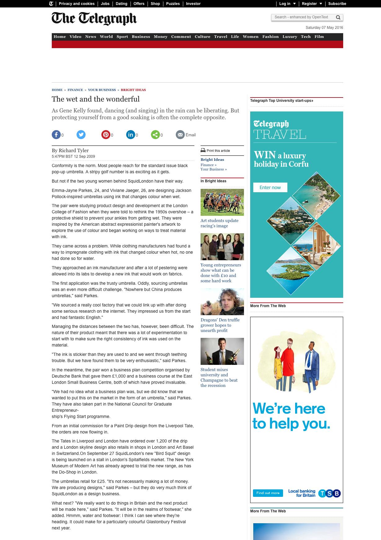 September 2009 Telegraph