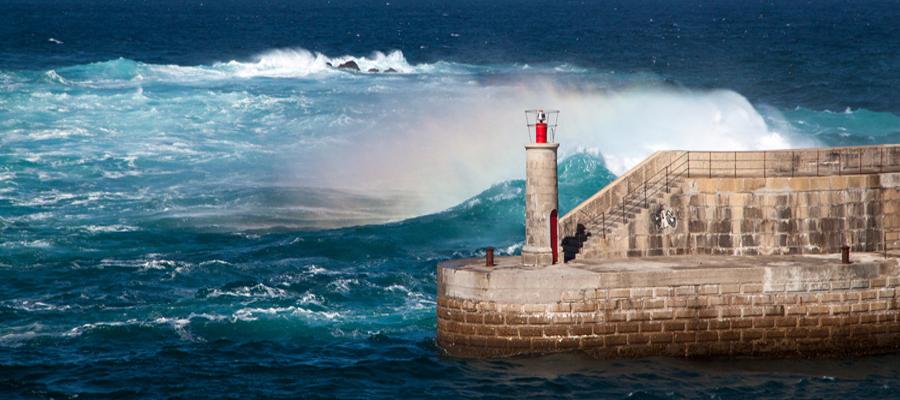 Spain, Asturia, Tapia Breakwater