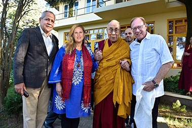 Lee and Monika with The Dalai Lama