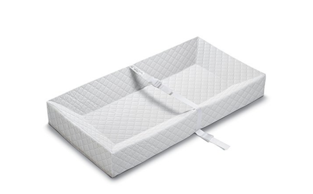 12. non-skid changing pad - Chances are the baby won't be near the nursery at all times for a quick change, nor use the bathroom at all convenient times ;) This changing pad is great to have in different rooms of the home or while traveling making it easier to freshin' up those cute little bottoms!