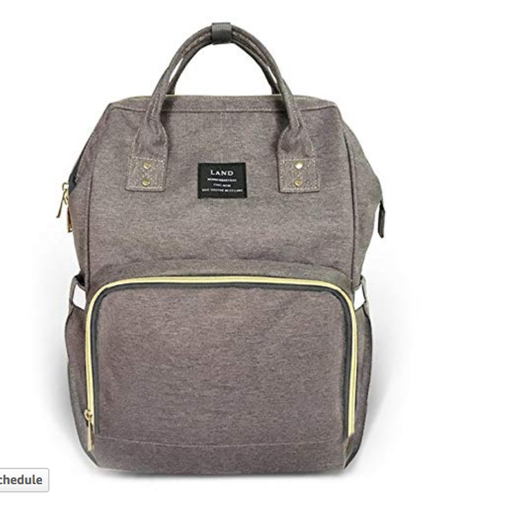 13. diaper bag/backpack - With multiple compartments and easy access pockets, you can use this as a backpack or handbag. It comes in multiple colors and its simple design is attractive for both mom + dad to use for all occasions.