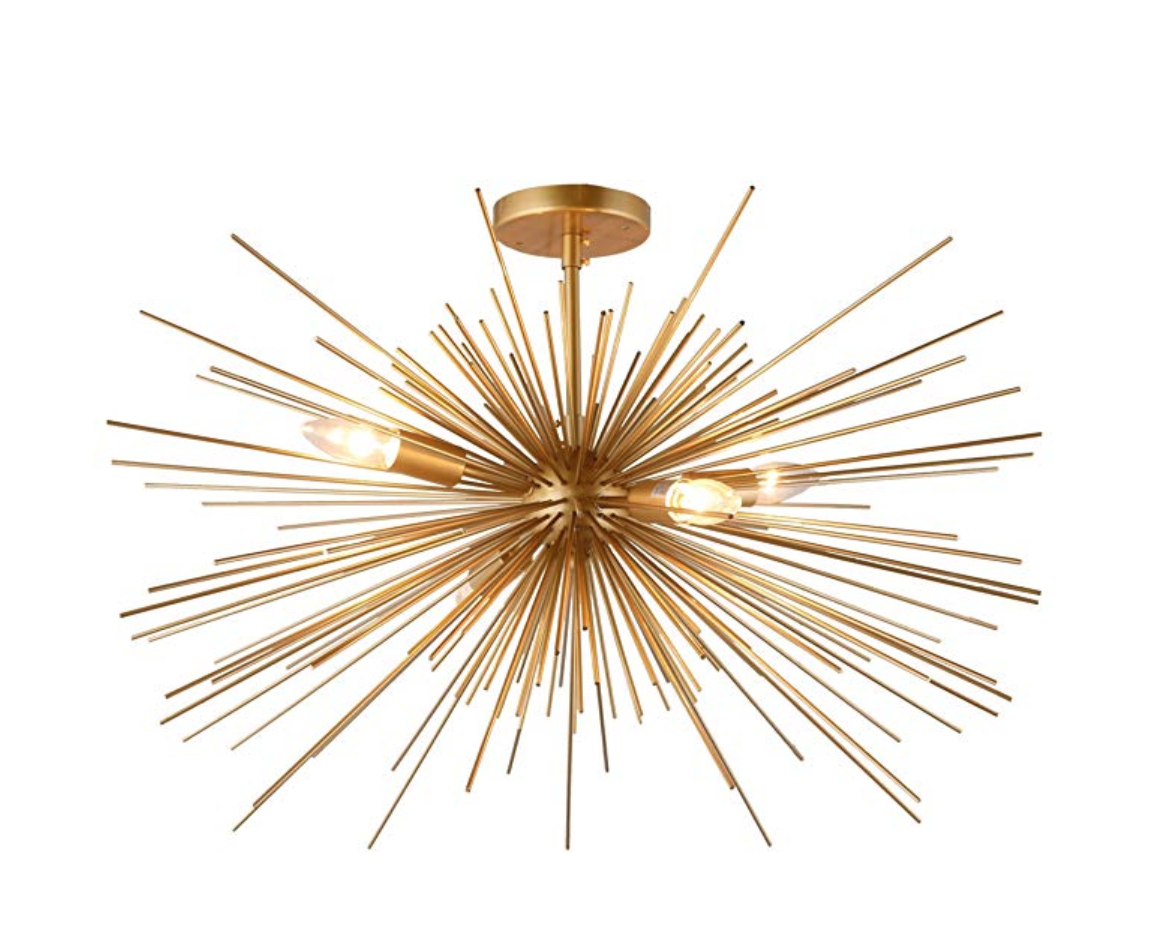 Copy of  Gold Spike Starburst Light Mid Century