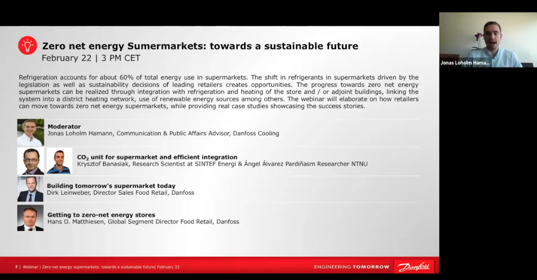 2019-02-22: Zero net energy supermarkets: towards a sustainable future