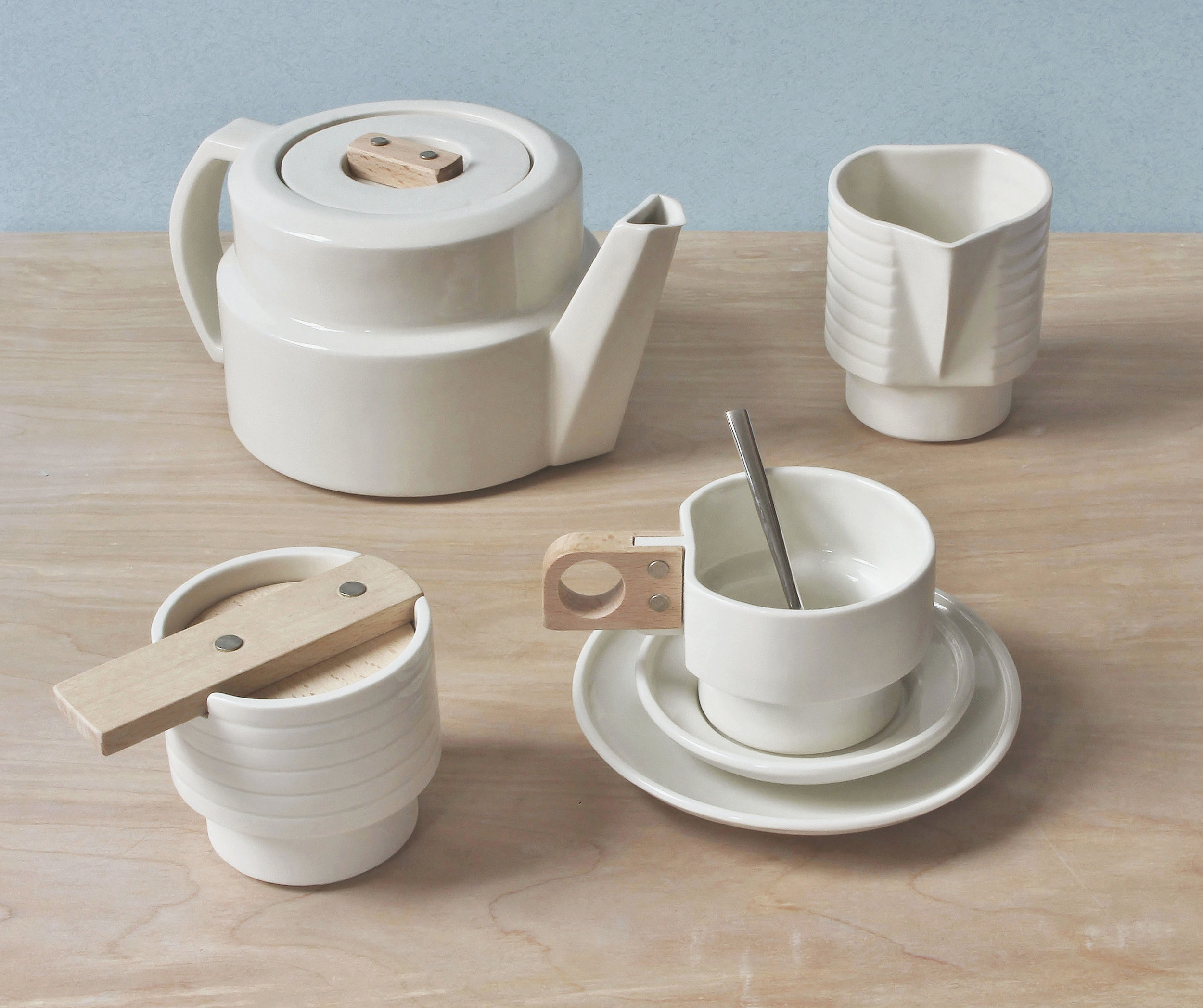 Atro-city collection in white by Emma Johnson