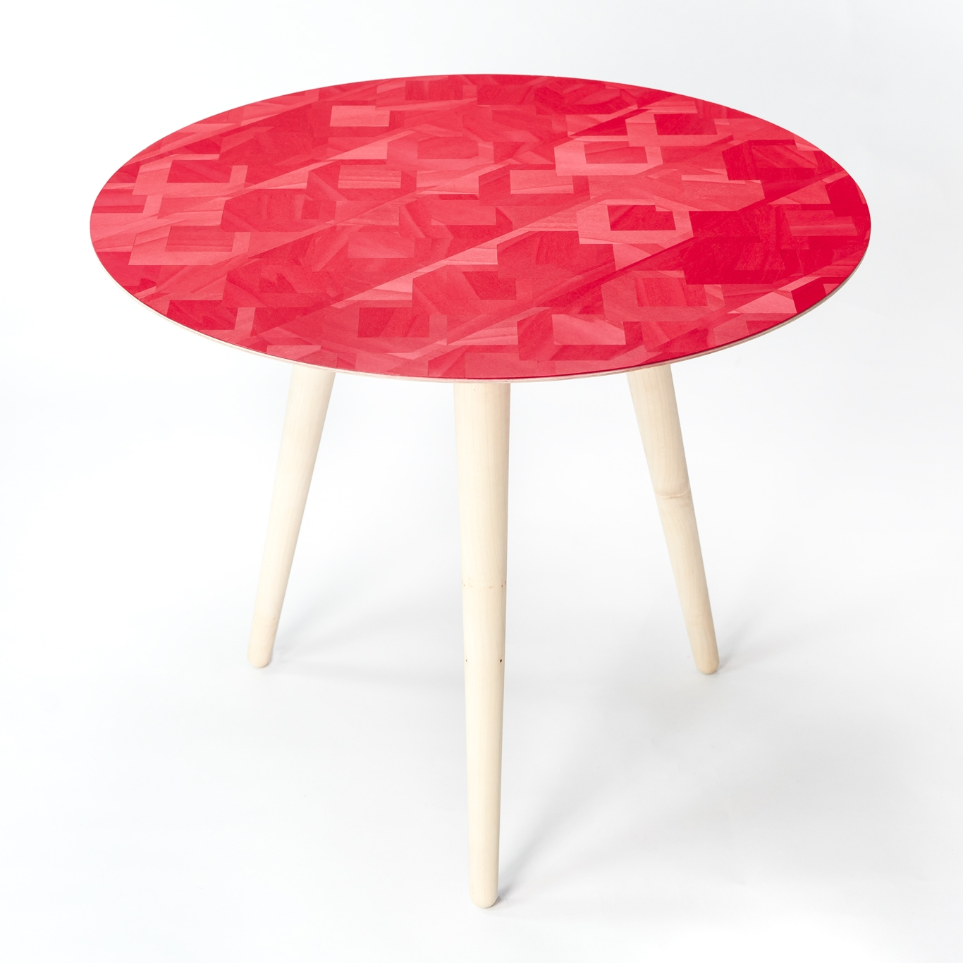 Marquetry Side Table by Winter and Kurth