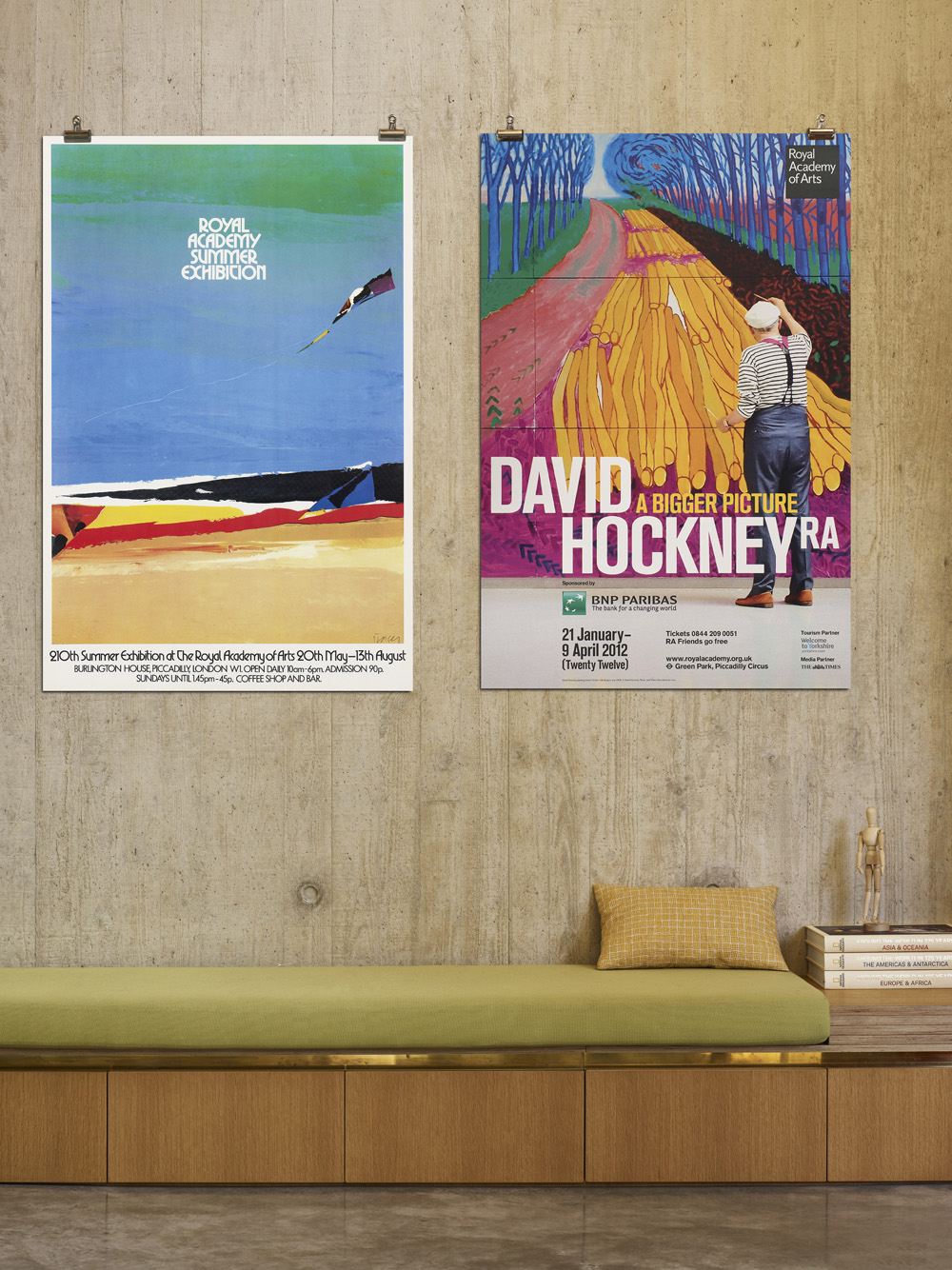 Above: RA Summer Exhibition 1978 and RA David Hockney Exhibition 2012 Epic Posters