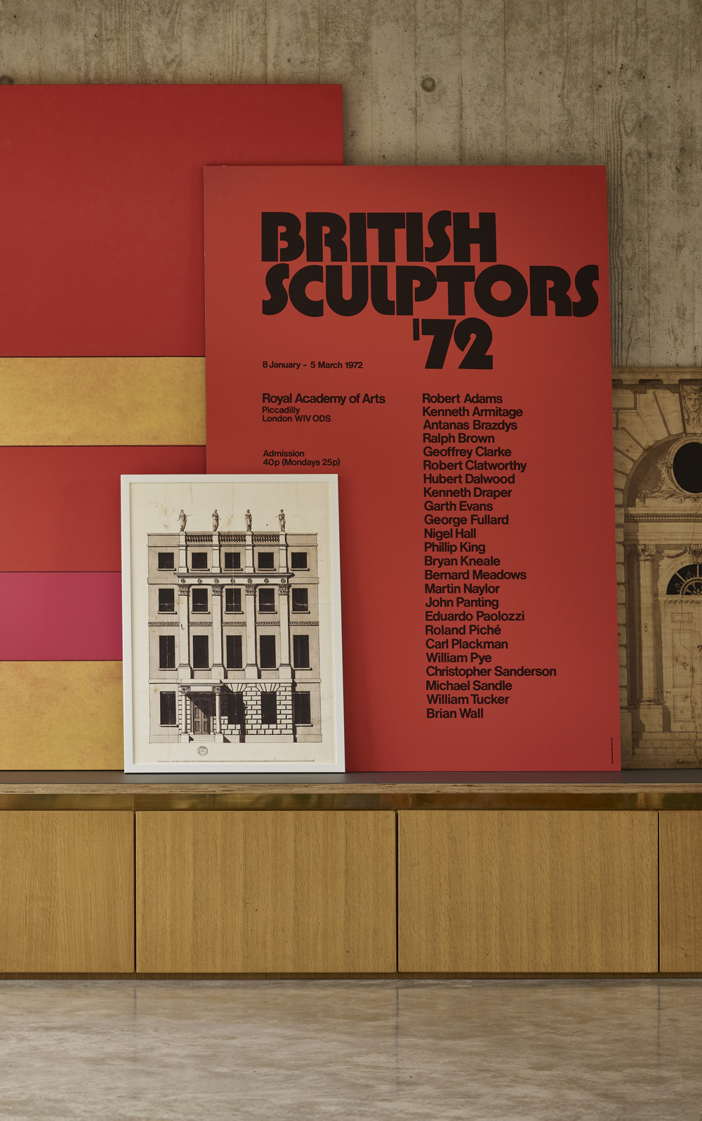 RA British Sculptors Exhibition 1972 Epic Poster