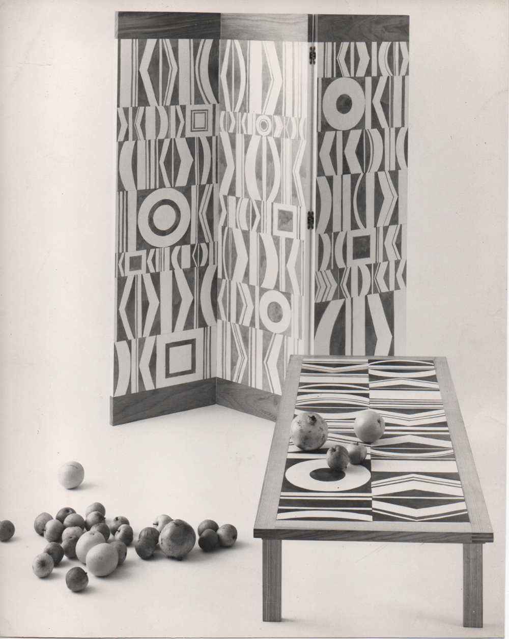 DANAD Screen and Table c. 1958-1962