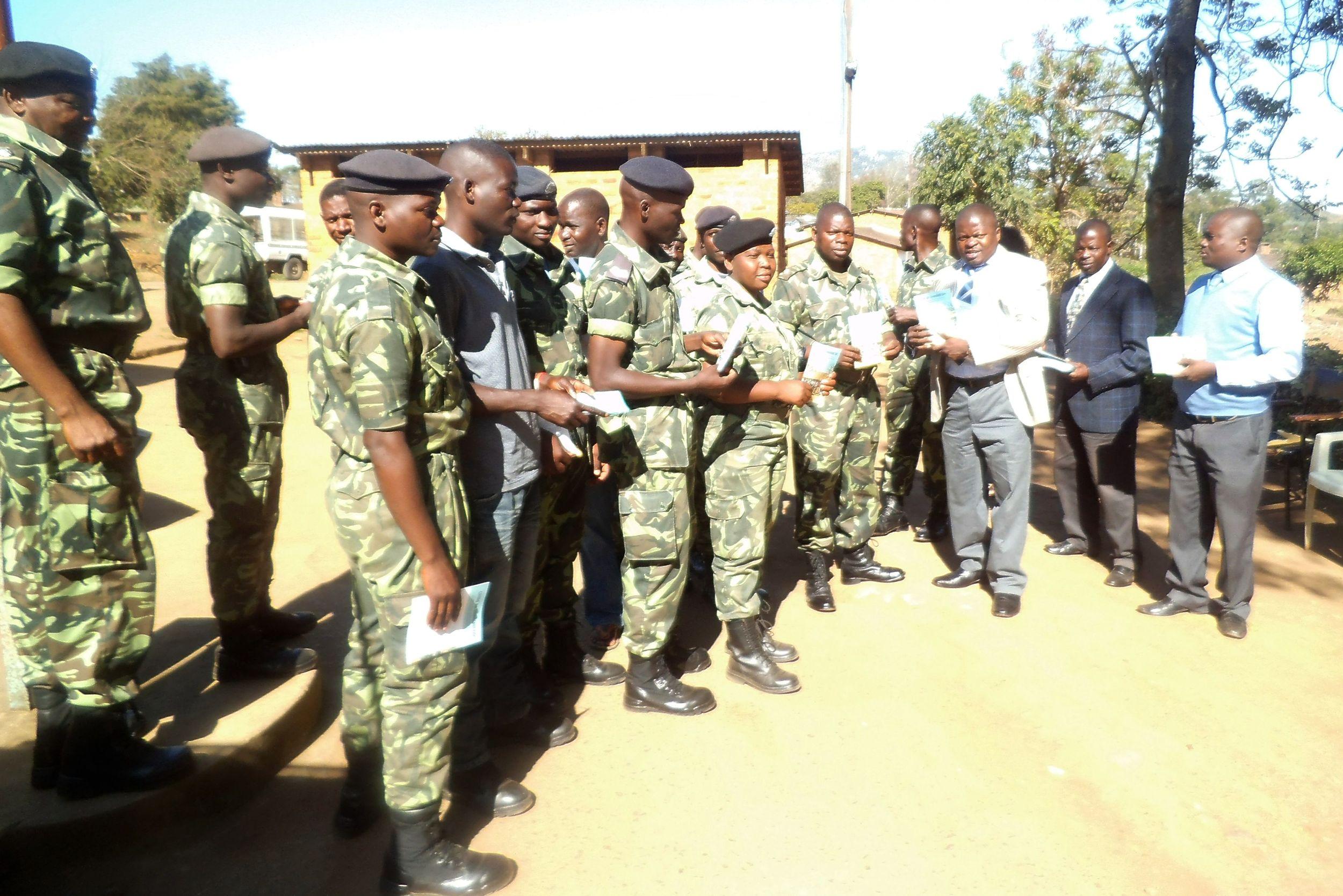 BIBLE STUDY DISTRIBUTION IN ZOMBA ARMY BARRACKS - 2014.jpg