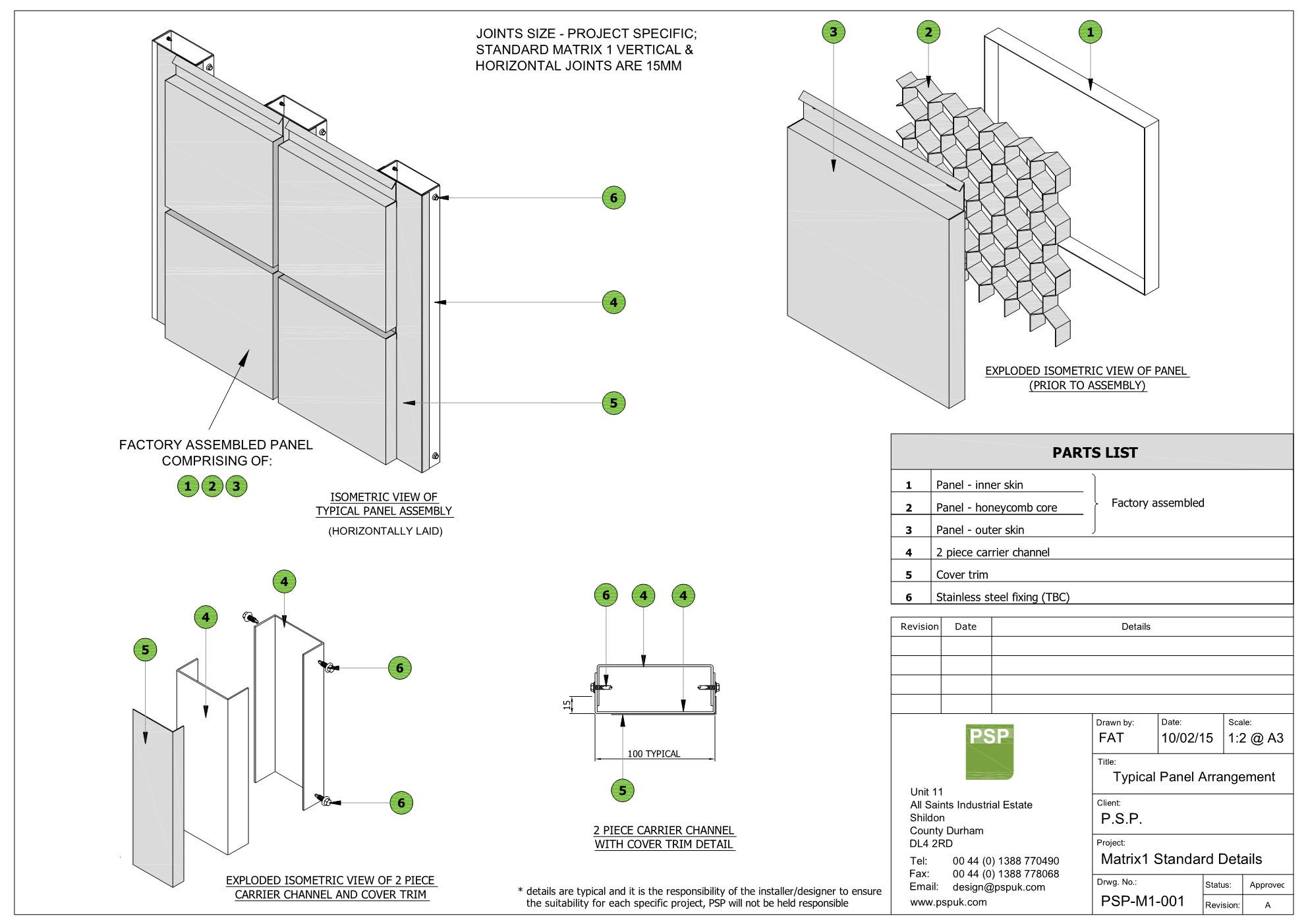 PSP CLADDING SYSTEMS — F+A+T
