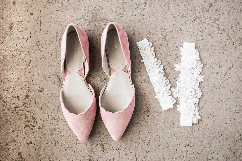 pink wedding flats